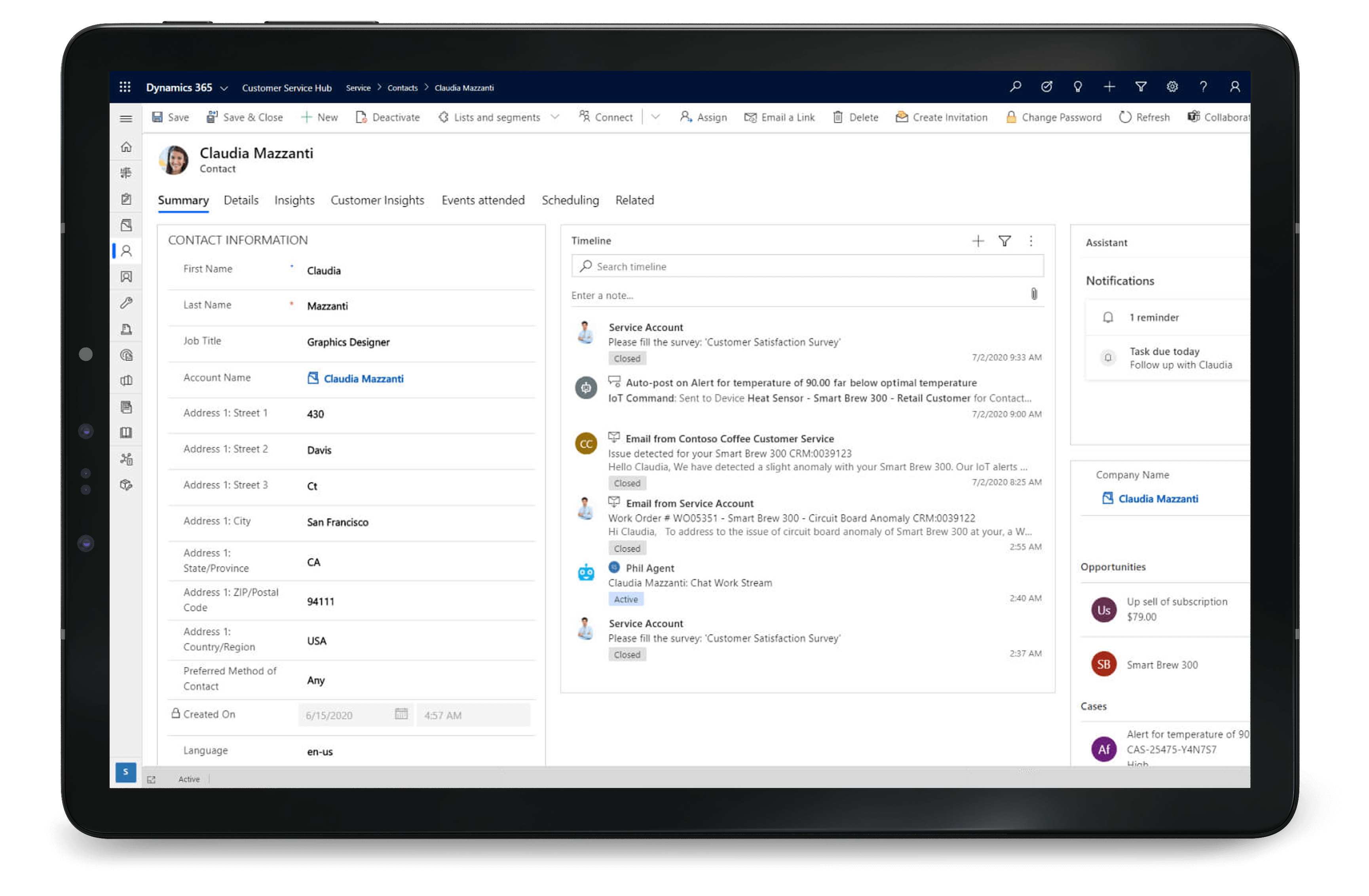 Dynamics 365 Customer Service for customer service experiences