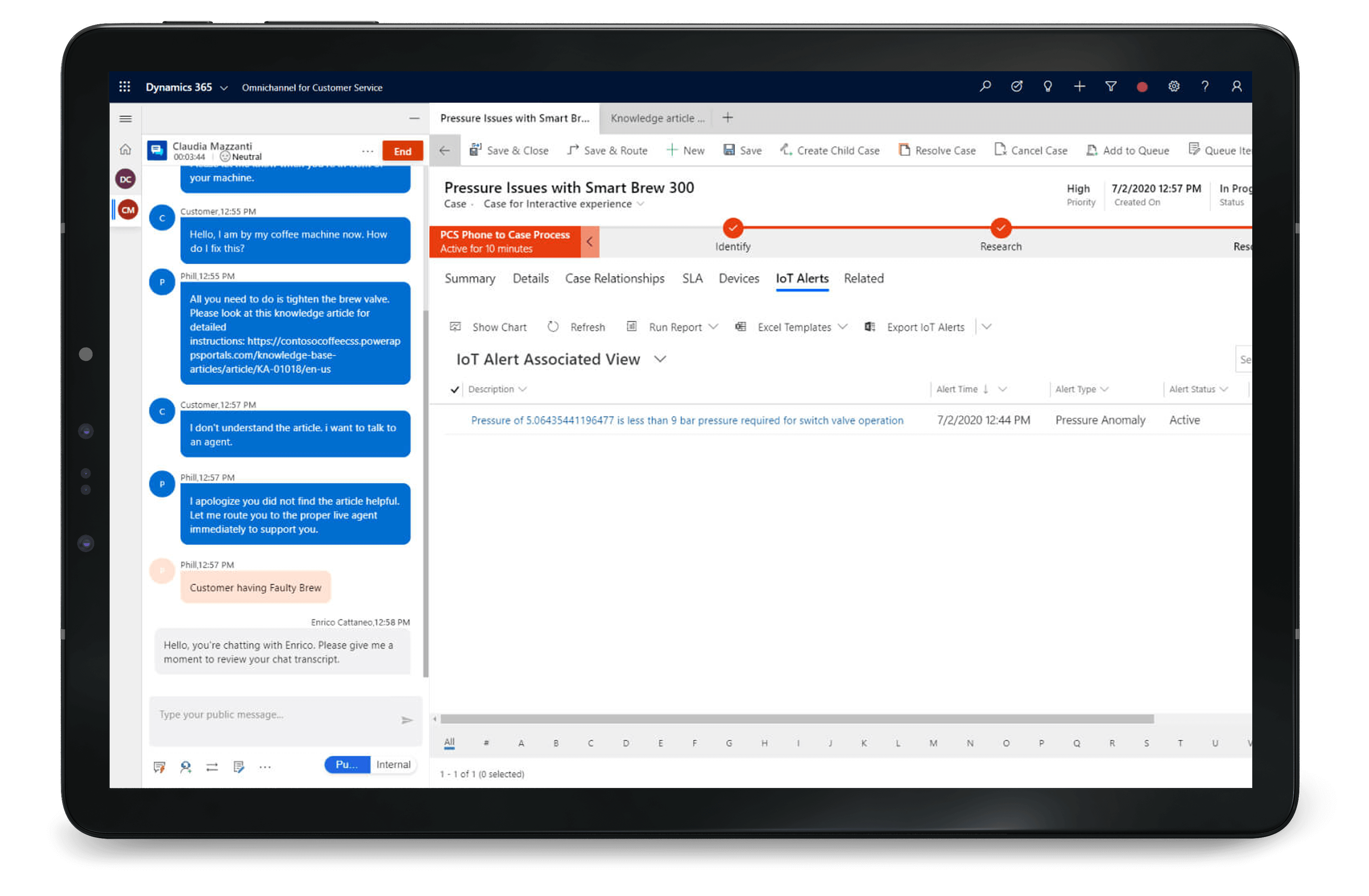 Dynamics 365 Customer Service help customer service managers solve problems