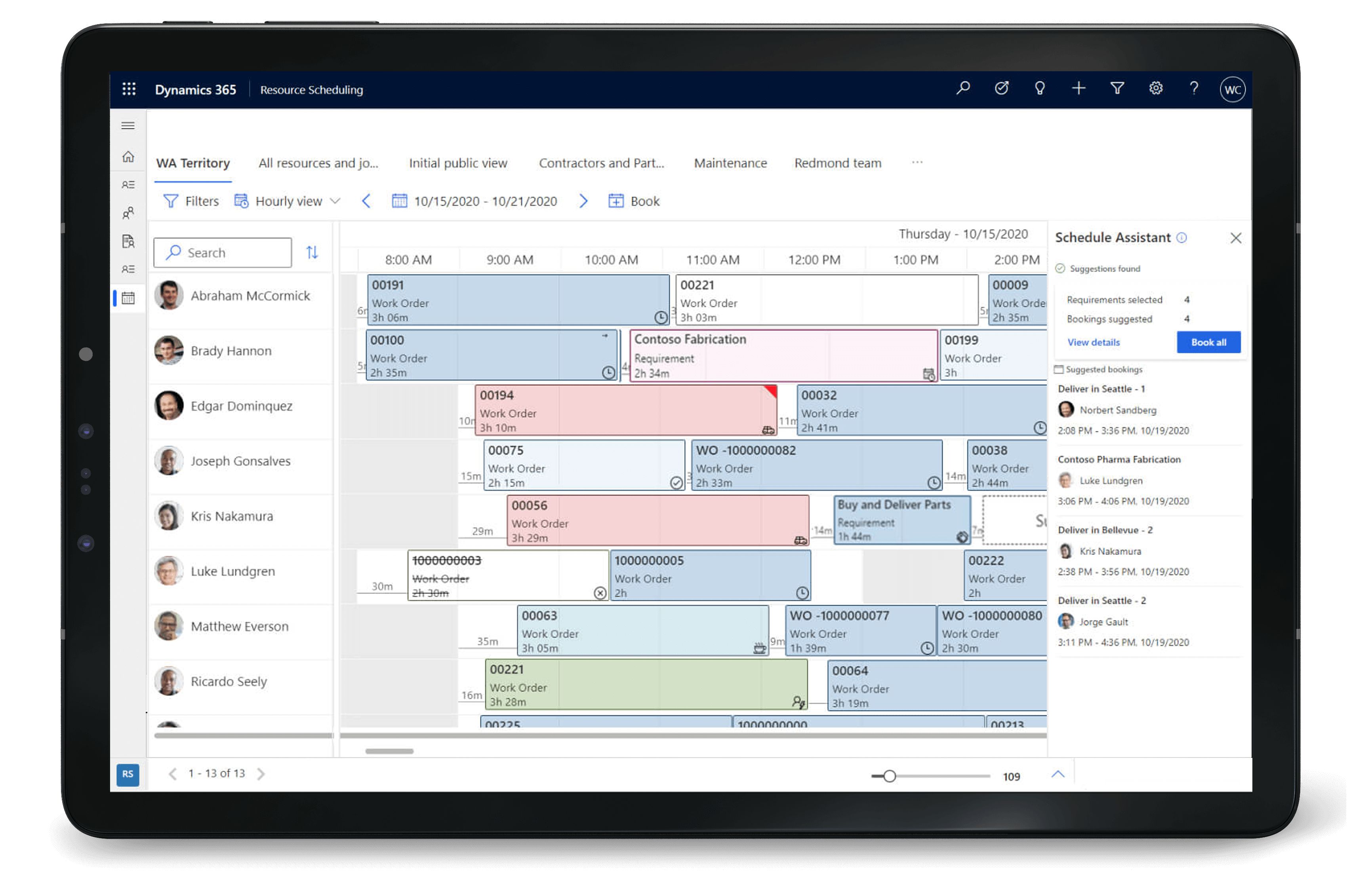 Automated scheduling with AI